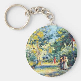 A Garden in Montmartre by Pierre Renoir Key Chain
