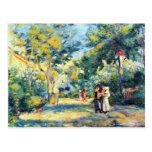 A Garden in Montmartre by Pierre Renoir Postcard