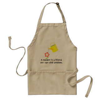 """A garden is a friend"" flower gardening Adult Apron"