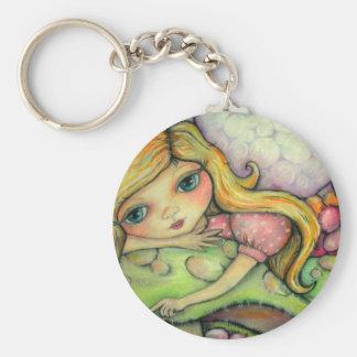 A Garden of Fairy Delights Basic Round Button Keychain