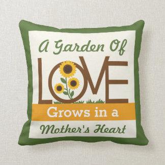A Garden of Love Grows in a Mom s Heart Throw Pillow