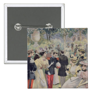 A Garden party at the Elysee 2 Inch Square Button