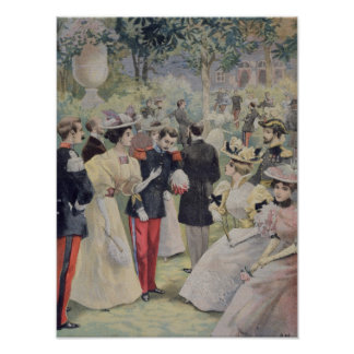 A Garden party at the Elysee Print