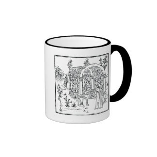 A garden scene, from 'Hypnerotomachia Poliphili' a Ringer Coffee Mug