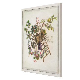 A garden textile design , from 'Oeuvre contenant u Canvas Print
