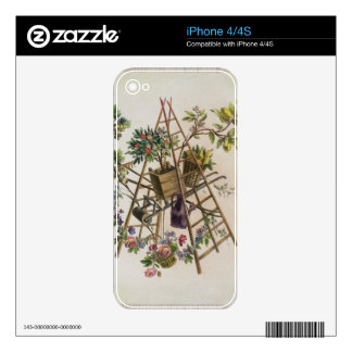 A garden textile design , from 'Oeuvre contenant u iPhone 4 Decals