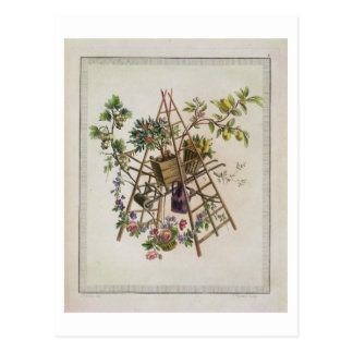A garden textile design , from 'Oeuvre contenant u Postcard
