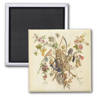 A garden textile design, from 'Oeuvre contenant un 2 Inch Square Magnet