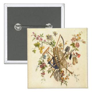 A garden textile design, from 'Oeuvre contenant un Button