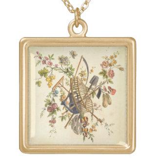 A garden textile design, from 'Oeuvre contenant un Pendants