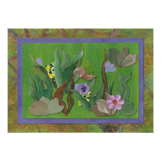 A Garden View Painting Poster