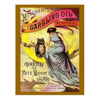 A Gargling Oil Dream and Fate Book Cover Post Card