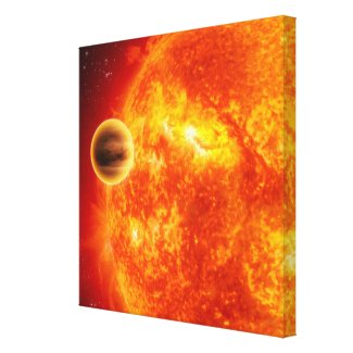 A gas-giant exoplanet canvas print