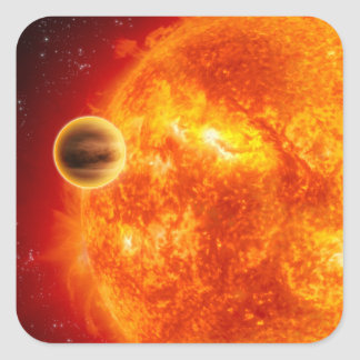 A gas-giant exoplanet square sticker