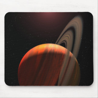 A gas giant planet orbiting a red dwarf mouse pad