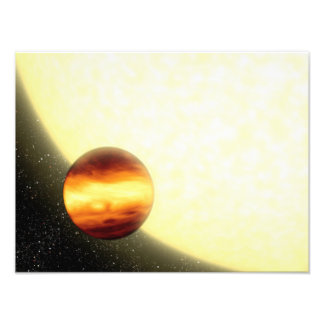 A gas-giant planet orbiting very close photo print