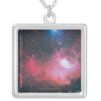 A Gaseous Nebula Silver Plated Necklace