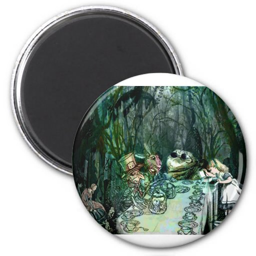 A GATHERING FOR TEA WITH ALICE.jpg 2 Inch Round Magnet