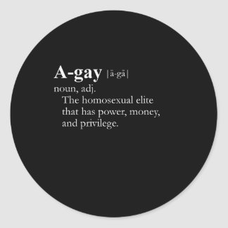 A-Gay (definition) Round Stickers
