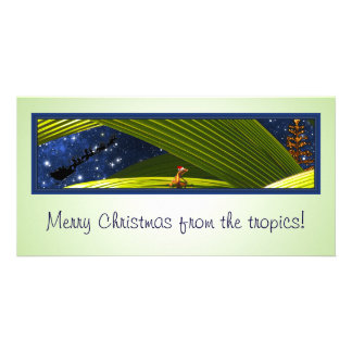 A Gecko Lizard's Tropical Christmas Card