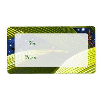 A Gecko Lizard's Tropical Christmas Label