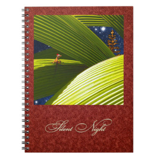 A Gecko Lizard's Tropical Christmas Spiral Notebook