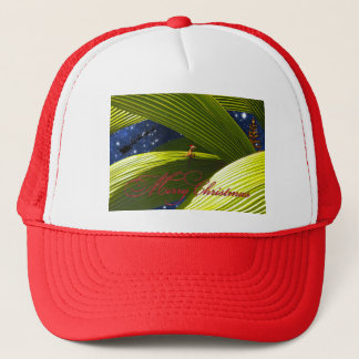 A Gecko Lizard's Tropical Christmas Trucker Hat