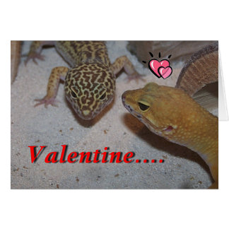 A Gecko Will You Be Mine Valentine's Card