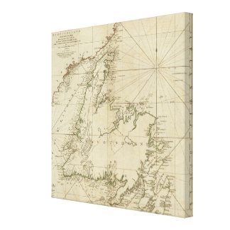 A General Chart Of The Island Of Newfoundland Canvas Print