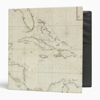 A General Chart of the West Indies 3 Ring Binder