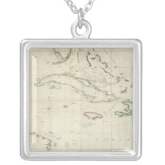 A General Chart of the West Indies Silver Plated Necklace