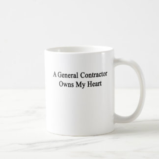 A General Contractor Owns My Heart Coffee Mug