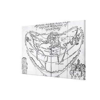 A General Map Canvas Print