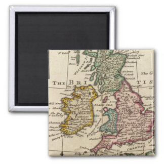 A general map of Great Britain and Ireland 2 Inch Square Magnet