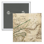 A General Map of the Northern British Colonies Pinback Buttons