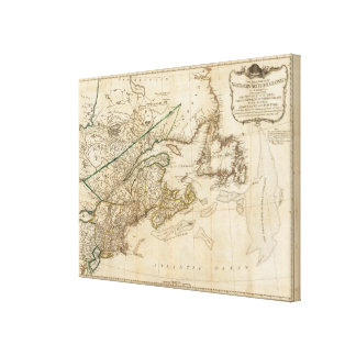 A General Map of the Northern British Colonies Canvas Print