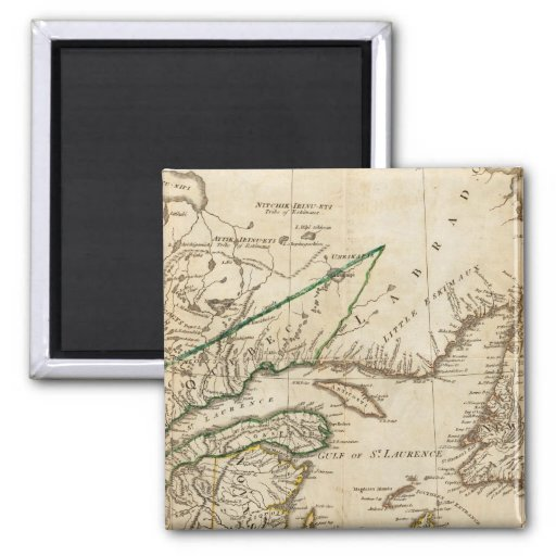 A General Map of the Northern British Colonies Refrigerator Magnets