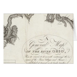 A General Map Of The River Ohio Card