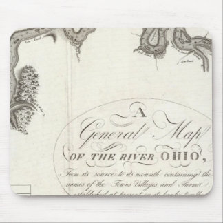 A General Map Of The River Ohio Mouse Pad