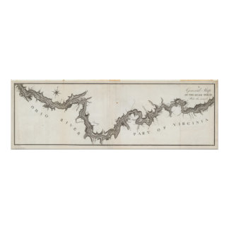 A General Map of the River Ohio, Plate the second Poster