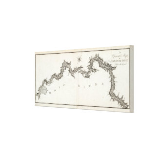 A General Map of the River Ohio, Plate the third Canvas Print