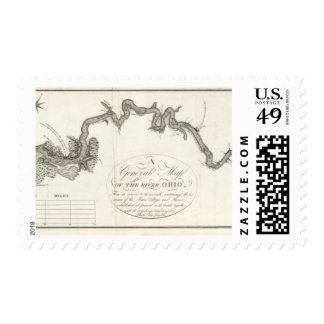 A General Map Of The River Ohio Postage