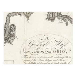 A General Map Of The River Ohio Postcard