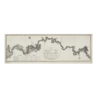 A General Map Of The River Ohio Poster