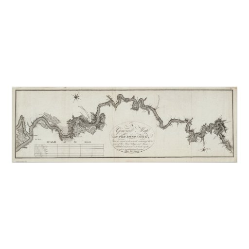 A General Map Of The River Ohio Posters