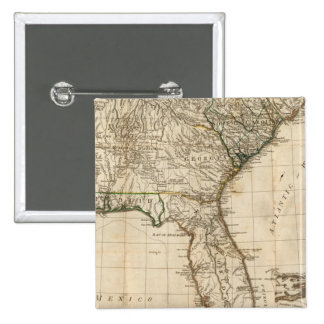 A General Map of the Southern British Colonies Pinback Button