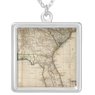 A General Map of the Southern British Colonies Square Pendant Necklace