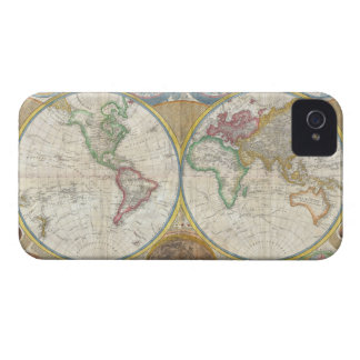 A General Map of the World by Samuel Dunn 1794 iPhone 4 Case-Mate Case