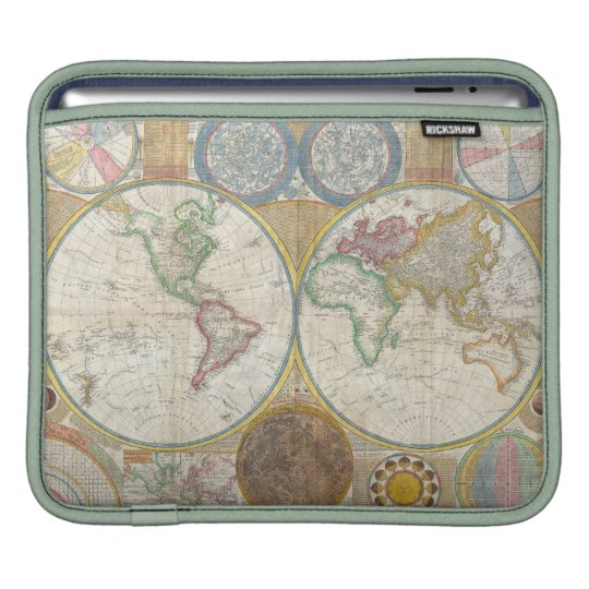 A General Map of the World by Samuel Dunn 1794 iPad Sleeve