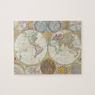 A General Map of the World by Samuel Dunn 1794 Jigsaw Puzzle